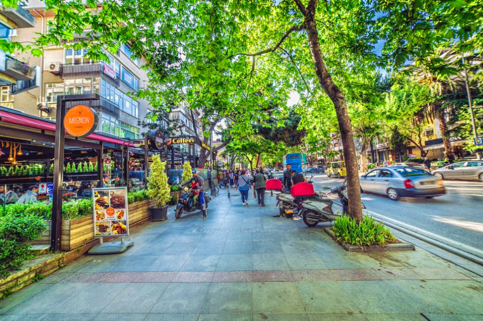 Famous Bagdat Street in Istanbul